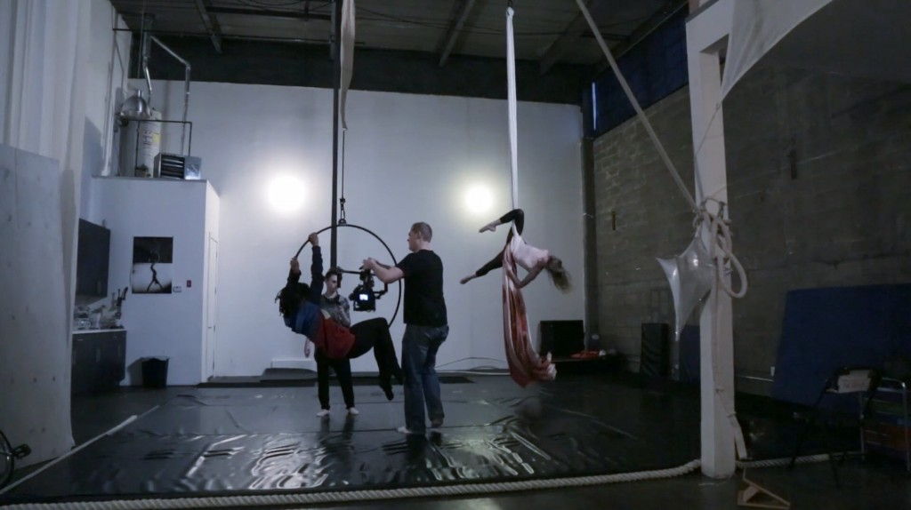 The MOVI operator passes his rig through a hoop