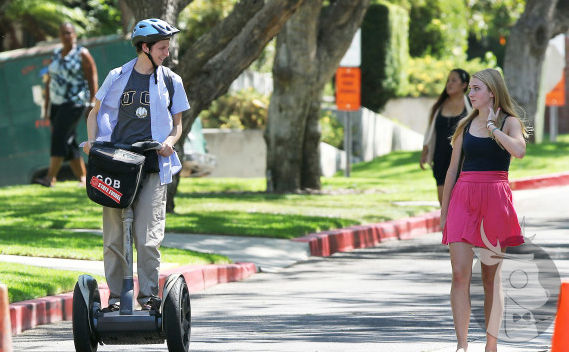 Arrested Development's Michael Cera on his segway at UC Irvine