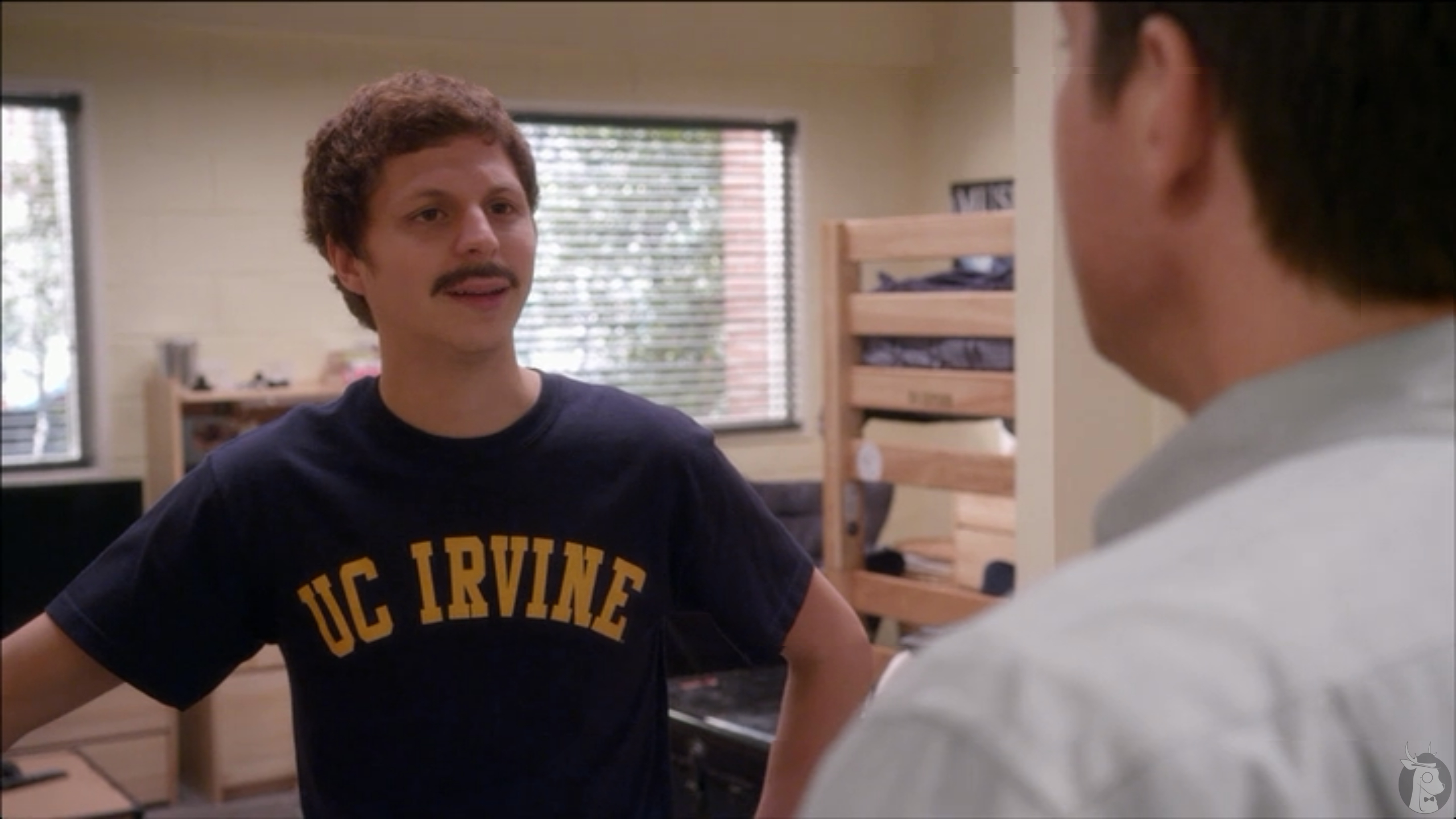 Michael Cera's new moustache in Arrested Development